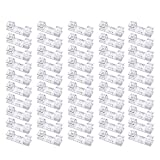 100Pack Heavy Duty Transparent Cable Clips with Strong Self-Adhesive Wire Holder for Car, Office and Home Sticky Tidy and Organise Cords and Wires Clear
