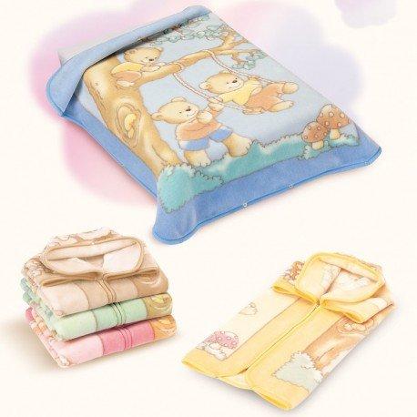 Babydecke – Babytasche – verwandelbar zu Decke – Beige – hergestellt in Spanien