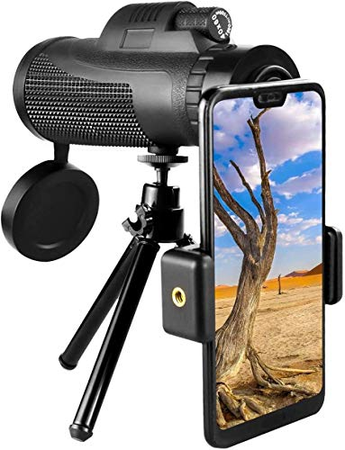 Bierglaks Telescopio monocular porttil 40 & Times; 60 Telescopio de Aumento monocular HD de Alta Potencia con Enfoque de Soporte para telfono Inteligente para observacin de Aves -