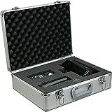 Alumaxx 45136 - Multifunktionskoffer Stratos II, Piloten Koffer aus Aluminium, Aktenkoffer in schwarz, Fotokoffer mit herausnehmbaren Schaumstoff Elementen, Pilotenkoffer ca. 32 x 39,5 x 16,5 cm