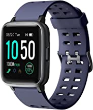 YAMAY Smart Watch for Android and iOS Phone IP68 Waterproof, Fitness Tracker Watch with Heart Rate Monitor Step Sleep Trac...