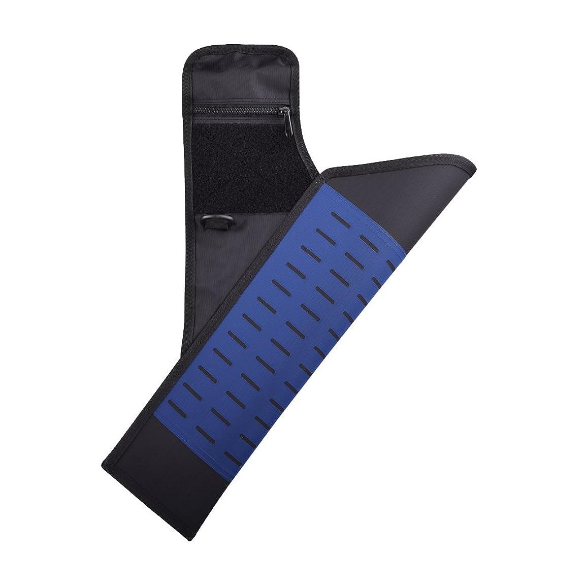 泥沼高めるレイアウトLovoski 可調節 狩猟ゲーム アーチェリー バッグ 矢筒 弓 腰とレッグ 携帯型 耐久性 全7色選べ - 紺