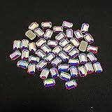Venta al por mayor 1440pcs / Pack Venta caliente Nail Art Rhinestones 150 formas Flatback Crystals Nail Rhinestones para decoraciones Design-4x6 Rectangular-1