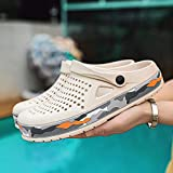 Lightweight Quick-Dry Slipper,Zapatos de piscina de fondo suave antideslizante para hombre,zapatillas de playa,sandalias de moda de verano,toboganes para jardín/jardín al aire libre para hombre.-blan