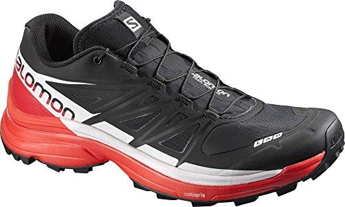 SALOMON L39195900, Chaussures de randonnée Mixte, Noir (Black/Racing Red/White Black/Racing Red/White), 37 1/3 EU