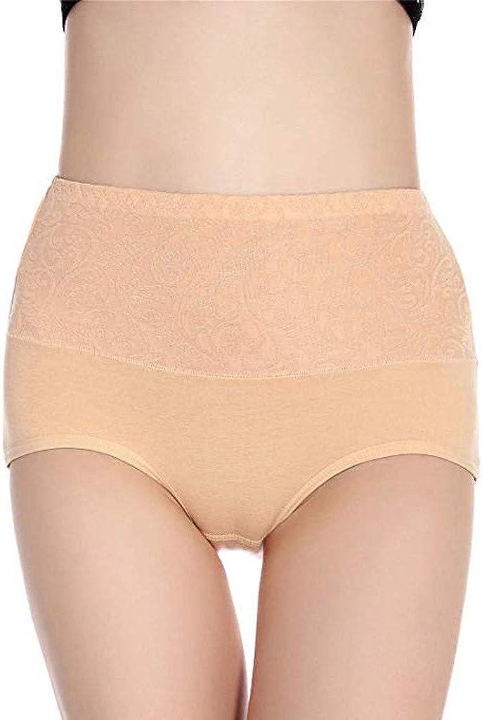 Zainafacai Womens Underwear, Soft Seamless Cotton High Waist Breathable Solid Color Briefs Panties for Women