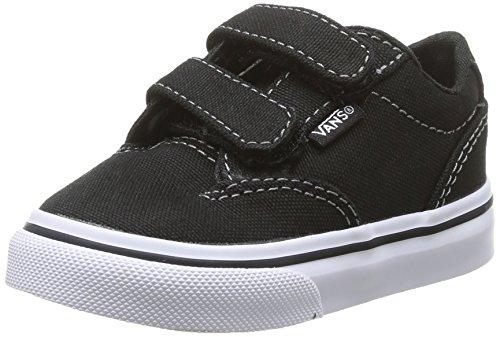 Vans Winston V - Zapatillas de Lona para niño Negro Schwarz ((Canvas) Blk/Wht 187) 26,5