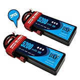 DXF 2PCS 5200mAh 7.4V 50C 2S LiPo RC Battery Pack with Hard Case