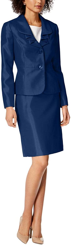 LeSuit Womens Professional Office Wear Skirt Suit