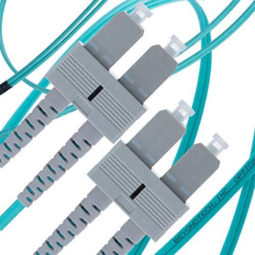 SC to SC Fiber Patch Cable Multimode Duplex - 25m (82ft) - 50/125um OM3 10G - Beyondtech PureOptics Cable Series