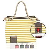 Beach Wine Bag 7th & Swag (Mustard Stripe)