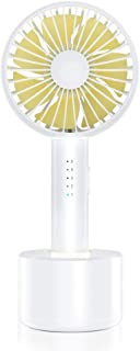 VersionTECH. Handheld Fan, Mini Rotate Personal Portable Desk Table Fan with USB Rechargeable Battery Operated Electric Fan for Traveling Office Outdoor Household Room White 5 Speed