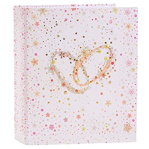 goldbuch 35345 Hochzeitsordner Kristall Romanze, Sammelordner DIN A4, Ringbuch Ordner für Hochzeit und Erinnerung, Rückenbreite 5 cm, Motivordner mit Kunstdruck, Goldprägung und Relief, Weiß