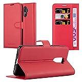 Cadorabo Hülle für Cubot X18 Plus in Karmin ROT - Handyhülle mit Magnetverschluss, Standfunktion und Kartenfach - Case Cover Schutzhülle Etui Tasche Book Klapp Style