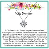 Onepurposegifts To my Daughter Gifts Daughter birthday gifts sweet 16 gifts graduation gift gifts for her (New Zirconia)