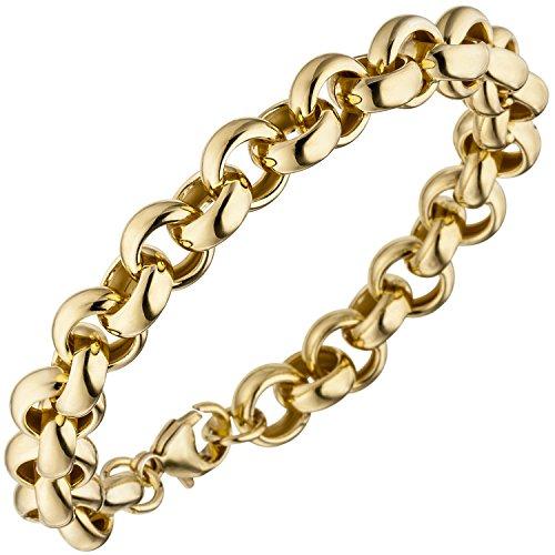 JOBO Erbsarmband 925 Sterling Silber gold vergoldet 21 cm Armband