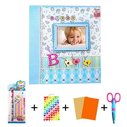 zoylink Journal de bébé bricolage créatif album photo scrapbook mignon pour bébé photo