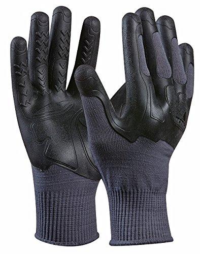 MadGrip 700922 - Guanti da lavoro'Pro Palm Knuckler Formula 200' con protezione nocche, migliore qualità industriale, taglia: XXL, colore: Grigio