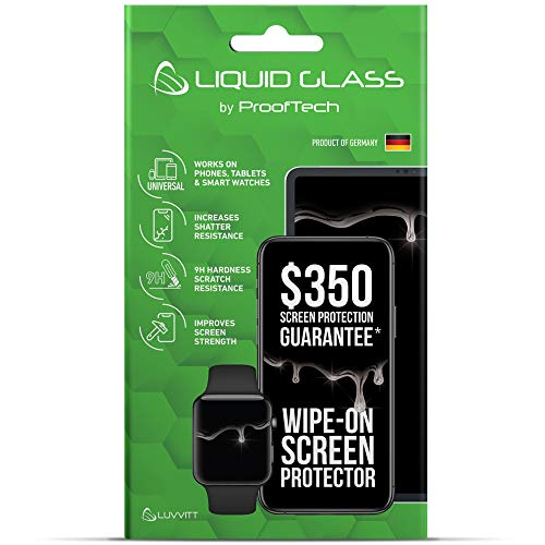 Liquid Glass Screen Protector with $350 Screen Protection for All Smartphones Tablets and Watches - Universal Fit