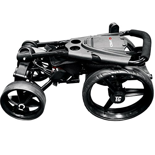 EZE Glide Compact Quad Golf Trolley - Black