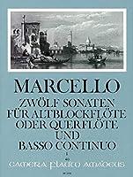 MARCELLO - Sonatas (12) Op.2 Vol.1: nコ 1 a 3 para Flauta de Pico Alto (Flauta) y Piano (Hess)