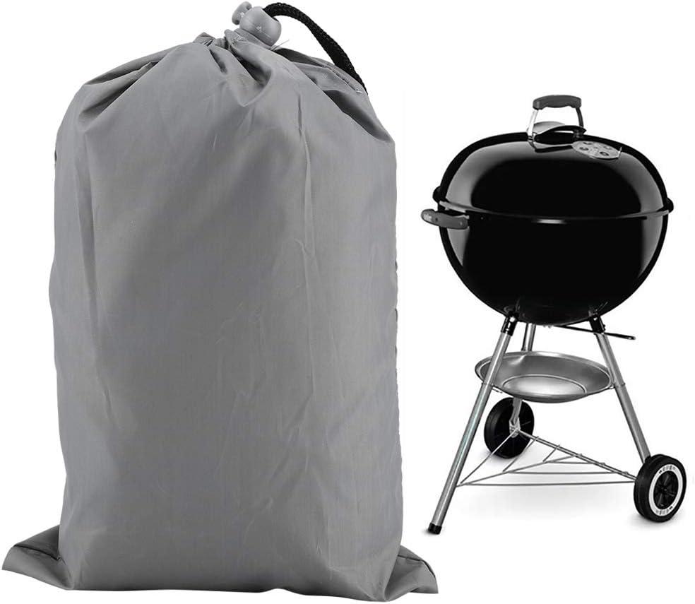 FILFEEL Housse de Gril extérieure, Housse de Gril imperméable pour Barbecue Housse de Protection Anti-poussière Durable et étanche à la Pluie(Noir) gris