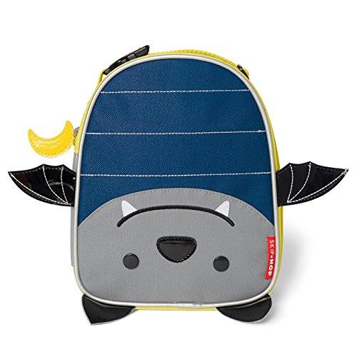 Skip Hop Zoo Lunchie Mini Vespertasche, für den Kindergarten, isoliert, mit Namensschild, Fledermaus Bailey, mehrfarbig