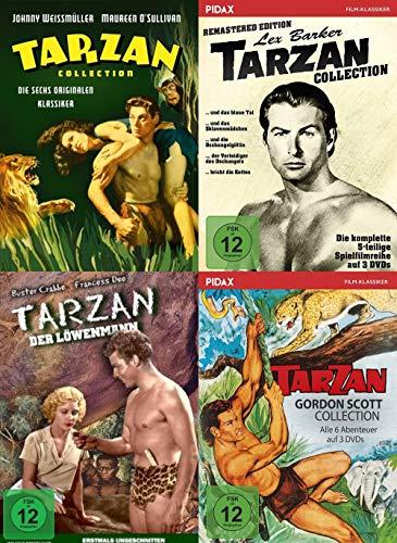 Tarzan Collection - Die großen Klassiker mit Johnny Weissmüller + Lex Barker + Gordon Scott 10 DVD Limited Edition