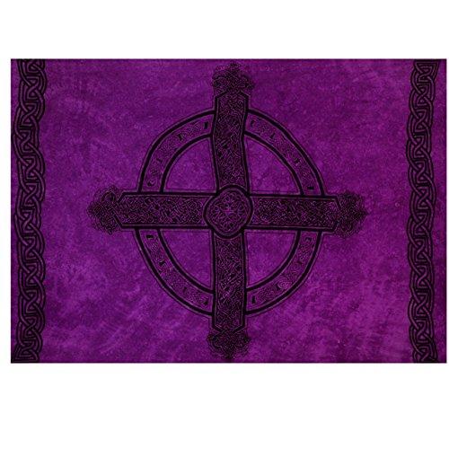 1 World Sarongs Mens Celtic Sarong in Celtic Cross 3 Royal Purple