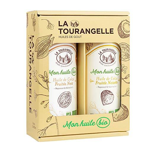 La Tourangelle Coffret Mon Huile Bio Terroir 2 Huiles de Colza Fruitées Noix /noisette 100% Bio Naturellement Riche en Oméga 3 Idée Cadeau Gourmandise/bien-être - 2 X 250ml DUOMHBNXNST