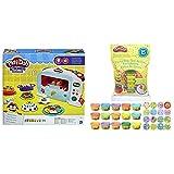 Play-Doh Horno Magico (Hasbro B9740EU4) + Bolsa De 15 Mini Botes (Hasbro 18367EU5) , Color/Modelo Surtido