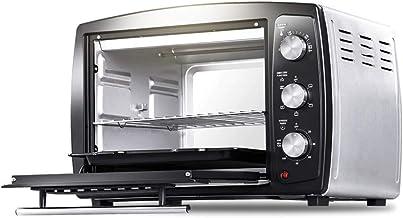 JYKXA Horno eléctrico Hogar Multi-Función del horno hogar 32L de gran capacidad de circulación de aire caliente 360 ° de rotación Grill Tenedor durable fuerte horno de acero inoxidable