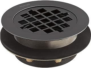 Kohler 9132-BL Round Shower Drain For Use with Plastic Pipe, Matte Black