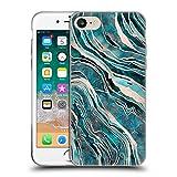 Head Case Designs Licenciado Oficialmente LebensArt Teal and Rosegold Gemstone Marble Carcasa de Gel de Silicona Compatible con Apple iPhone 7 / iPhone 8 / iPhone SE 2020