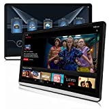 DDAUTO 12.5 inch Dual Android 9.0 Headrest Video Players with WiFi, Sync Screen Tablets Phone Mirror Car Back Seat TV Monitors, IPS Touch Screen 4K, Play Netflix Movies YouTube -DD125N9