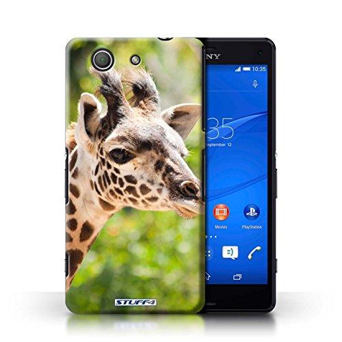 Hülle Für Sony Xperia Z3 Compact Wilde Tiere Giraffe Design Transparent Ultra Dünn Klar Hart Schutz Handyhülle Case
