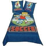 Bettwäsche Bart Soccer mit Spannbettlaken, The Simpsons