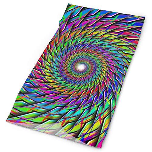 Gorro unisex con diseño de bloque de color arco iris, multifunción, poliéster, de secado rápido, suave, para cuello, bufanda para el cuello, para exteriores, mágico, bufanda, pañuelo, máscara, cuello, para hombres y mujeres