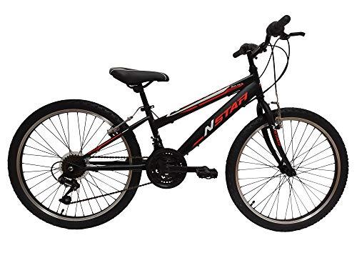 New Star Fahrrad Mountainbike 24', Kinder, 80EM001, Schwarz