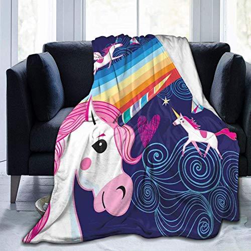 Manta de forro polar ultrasuave para adultos, con diseño de pájaros acuáticos coloridos con un patrón de corona, suave y cómoda manta de sofá de 127 x 101 cm