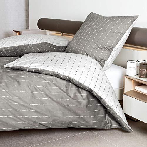 Janine Design Mako-Satin Bettwäsche Palermo 31029-07 1 Bettbezug 155 x 220 cm + 1 Kissenbezug 80 x 80 cm