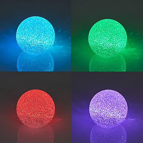 levandeo 3er Set LED Kugel 8cm Farbwechsel Leuchtkugel Vinyl Stimmungsleuchte Dekoleuchte Lampe Tischlampe Kinderzimmer Nachtlicht