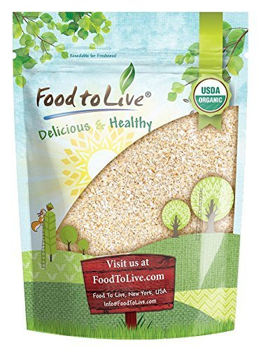 Organic Oat Bran, 8 Ounces - Non-GMO, Kosher, Raw, Vegan, Bulk, High Fiber Hot Cereal, Milled from High Protein Oats, Product of The USA