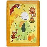 Delindo Lifestyle Krabbeldecke HAPPY ANIMALS - flauschig weiche Spieldecke - Babydecke 110x140 cm - für Mädchen und Jungen