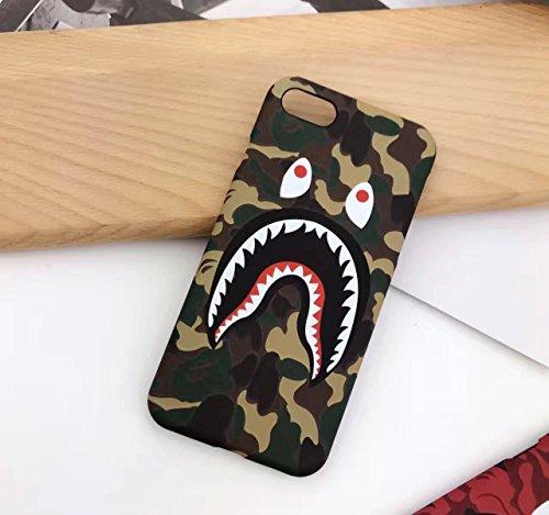 Keklle iPhone 7 4.7' Case, A Bathing Ape (Bape) Slim Protective Premium Hard Case for iPhone 7 (Green Camo)
