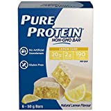 Pure Protein Bars, Non-Gmo 20g Protein Bar, No Artificial Sweeteners, Lemon Cake Flavor, Value Pack, 6 count