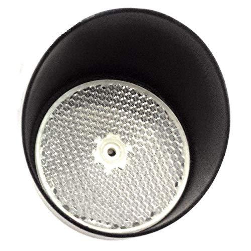 Kit espejo circular fotocelula reflexion y visera protector, estandar para cualquier fotocelula de reflexion, alta calidad, uso en puertas automaticas de garaje parking, o cualquier aplicación
