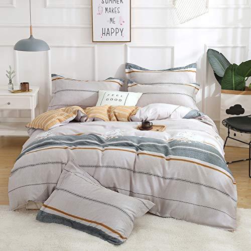 yaonuli Reactieve druk vierdelige verdikking linten 4-delige pak kleur prachtige 1,2 m bed (dekbedovertrek 150 * 200 vellen 160 * 230 kussensloop 48 * 74 cm aan)