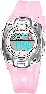 ETbotu Electronic Watch, Children Electronic Watch Digital Multifunctional Alarm Waterproof Wristwatch for Kids - Pink