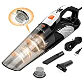 Handheld Vacuum, Meiyou 12000pa Powerful Suction Corded Hand Vacuum, Mini Ultra-Light Handheld Vacuum Cleaner with 20ftt Power Cord for Deep Car Pet Hair Dust Gravel Cleaning Without Interruption.